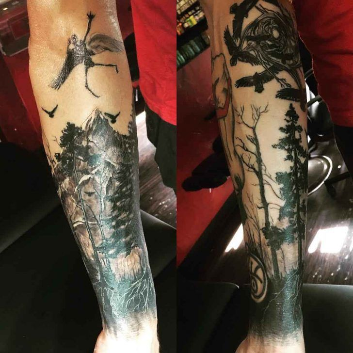 Dark Half Sleeve Tattoo Design Best Tattoo Ideas Gallery Dark