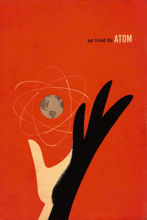 Our Friend the Atom: Gorgeous Book Cover from 1950s