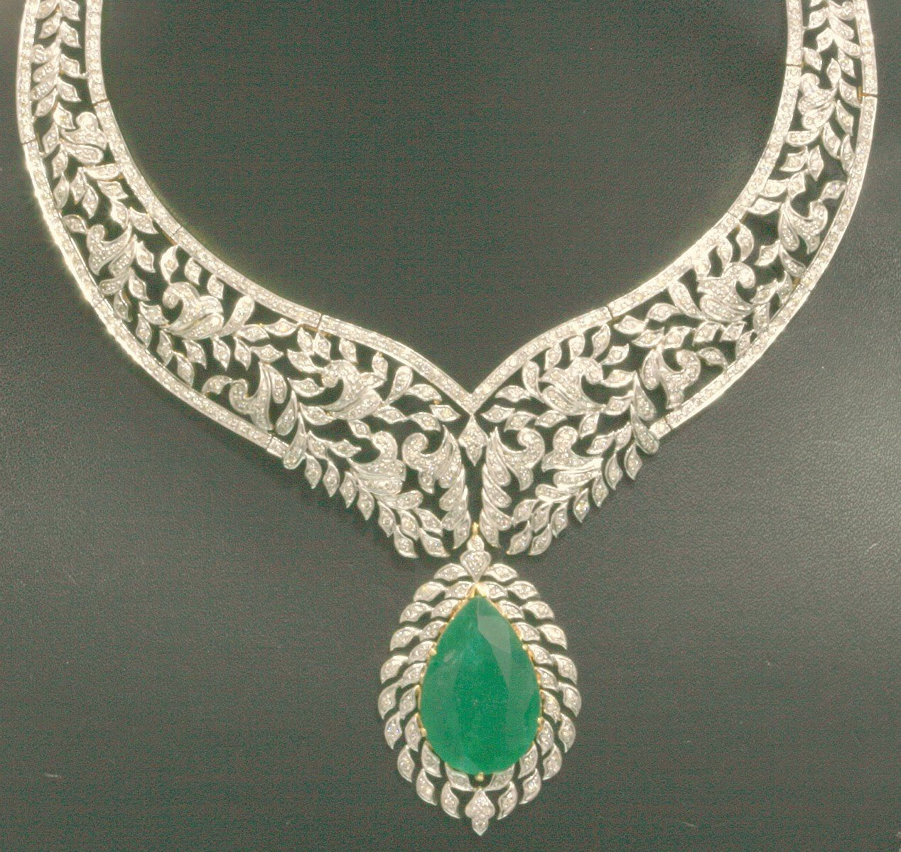 Emerald Diamond Necklace Designs Click here to shop beautiful ...