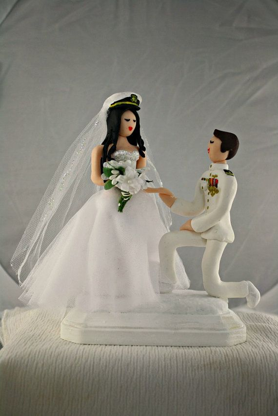 us navy wedding cake toppers 6 quot customized and groom wedding cake topper 21518