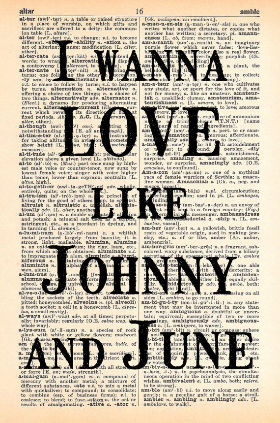 Johnny And June Dictionary Print Upcycled By MapleTreeProductions 800
