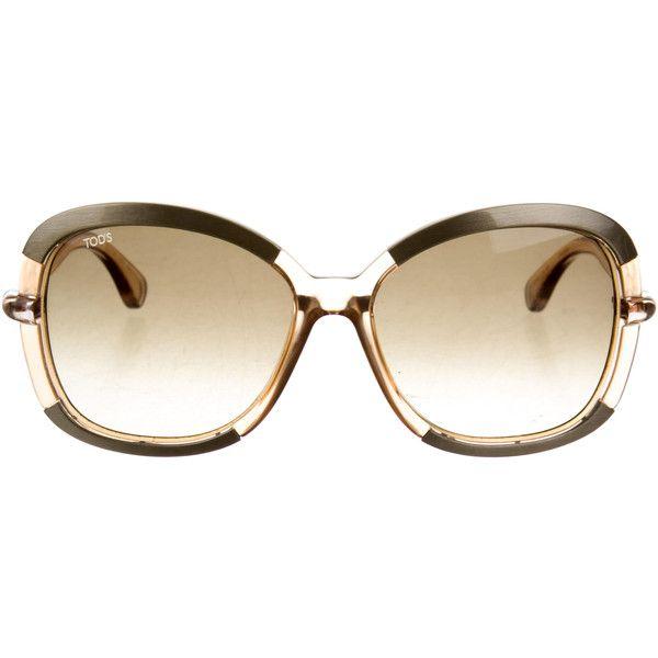 8f2eafb582 Pre-owned Tod s Logo-Embellished Oversize Sunglasses ( 75) ❤ liked ...