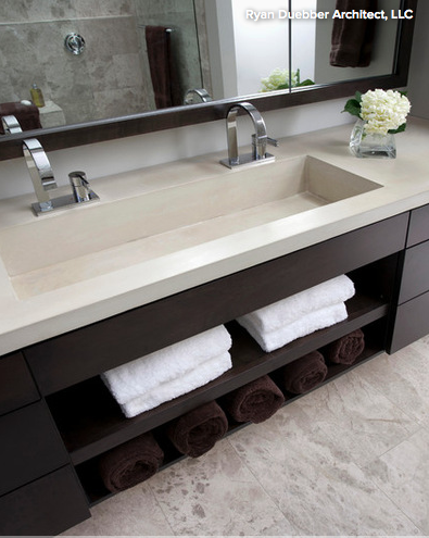 Wonder if this type of sink would work in my bathroom, which is probably too small for a double vanity like I want....