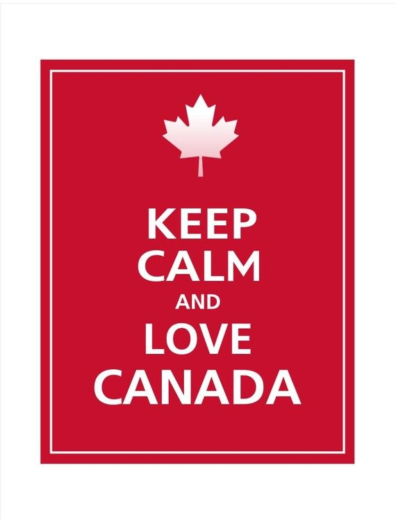 KEEP CALM and Love CANADA Print 11x14 Vintage Red by PosterPop via etsy