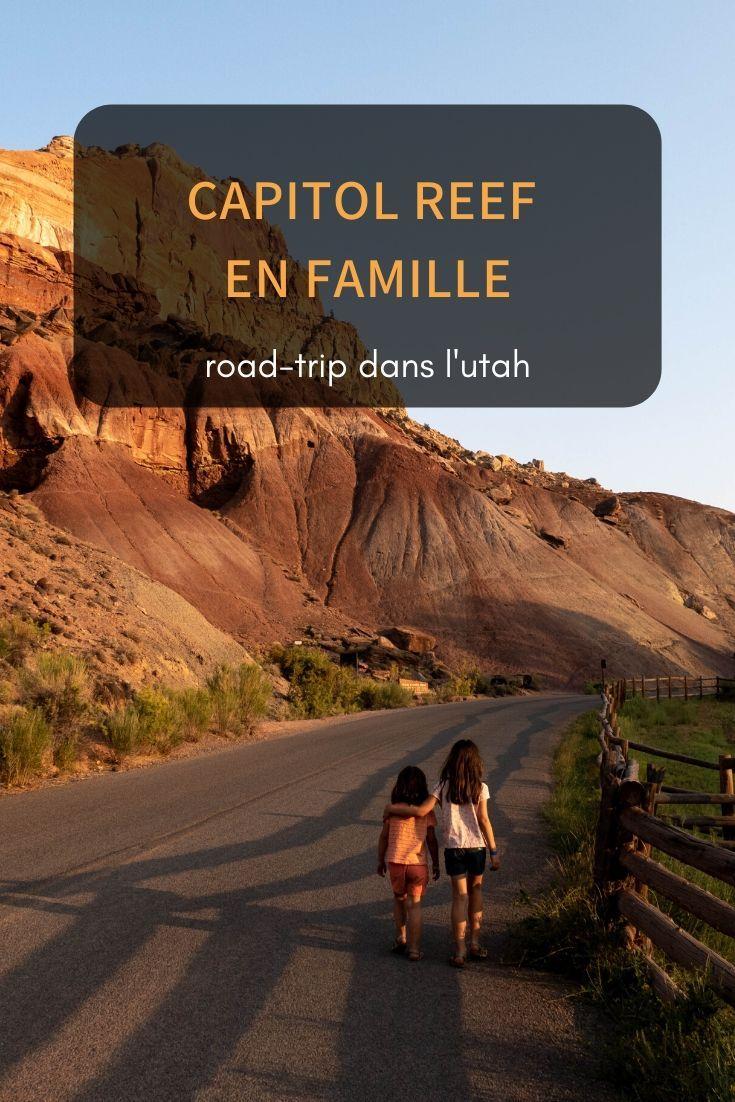 Capitol reef en famille #utahusa