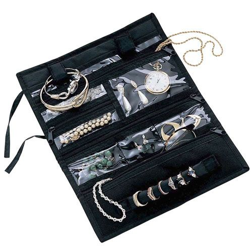 The Travel Jewelry Organizer keeps your jewelry organized and