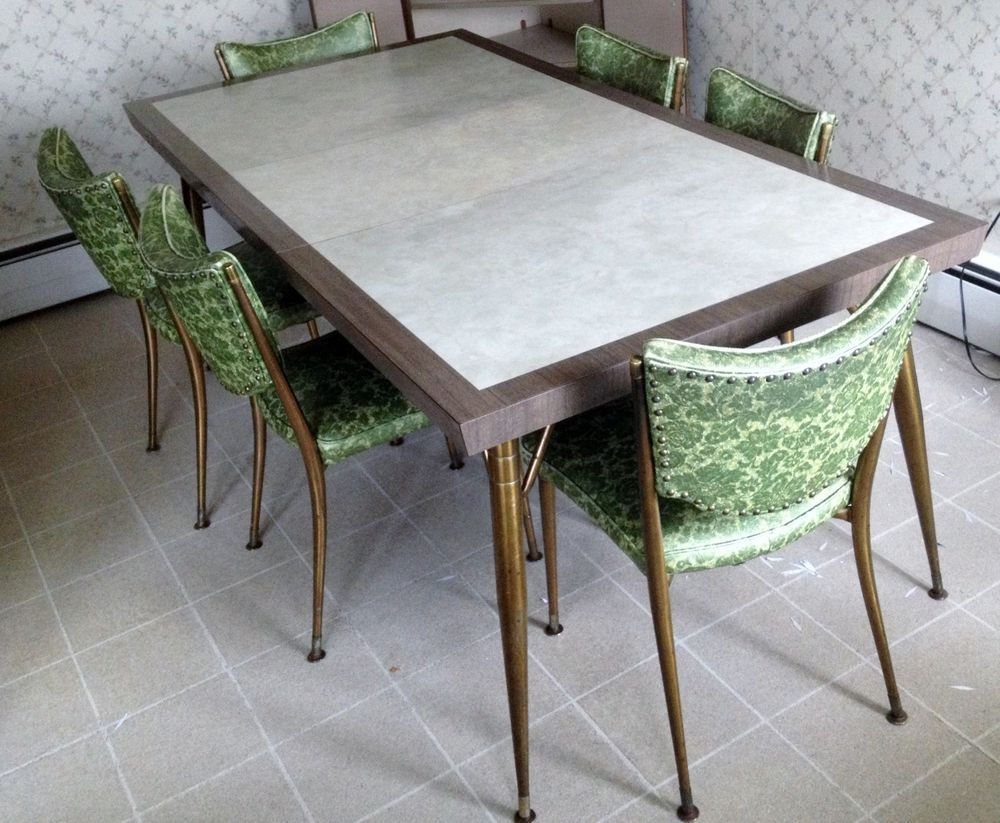 Mid Century Modern Kitchen Table walter of wabash/howell co. vtg mid-century modern kitchen table