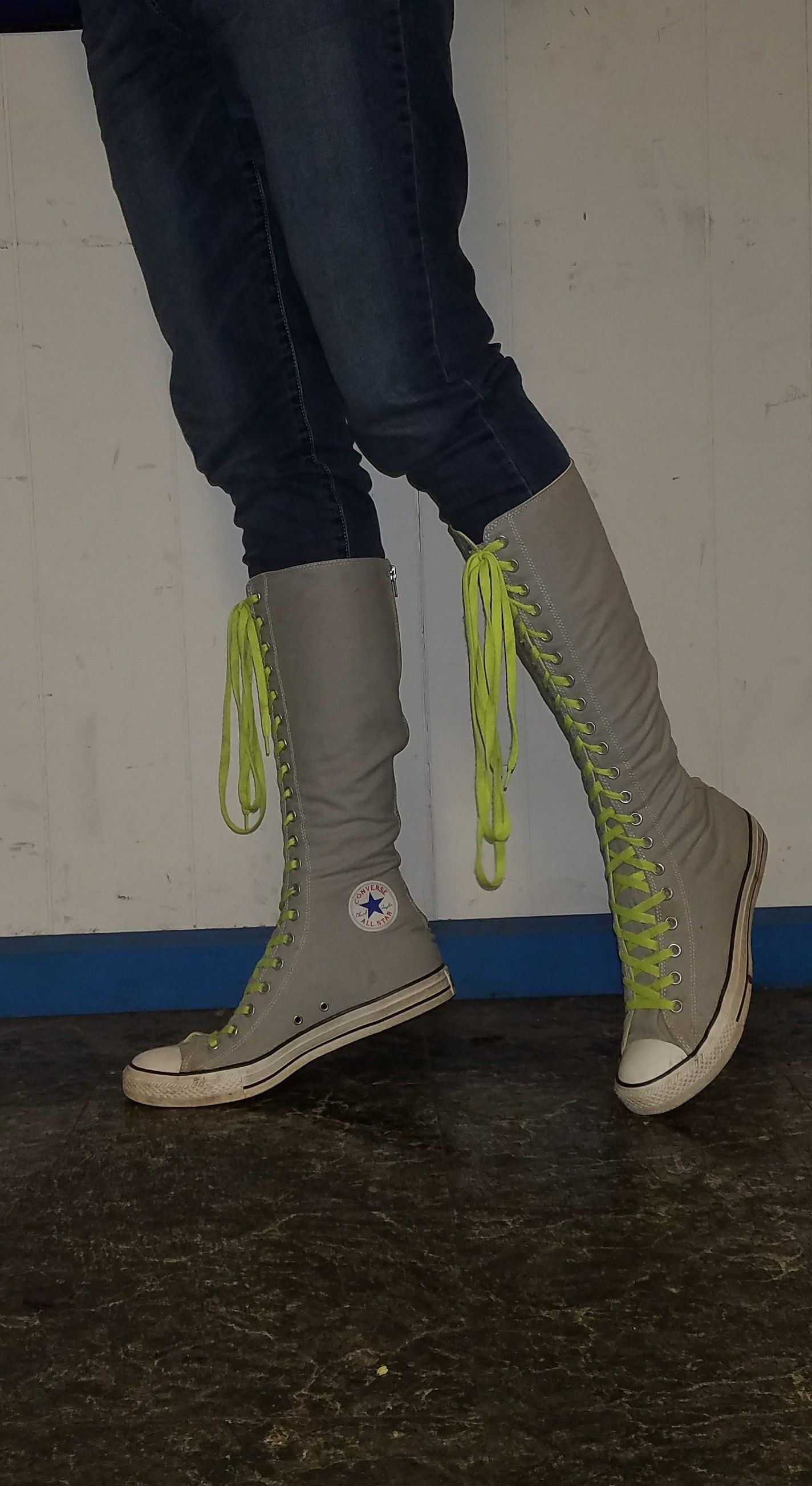 29812071243d Mirage grey and green XXHI Converse.
