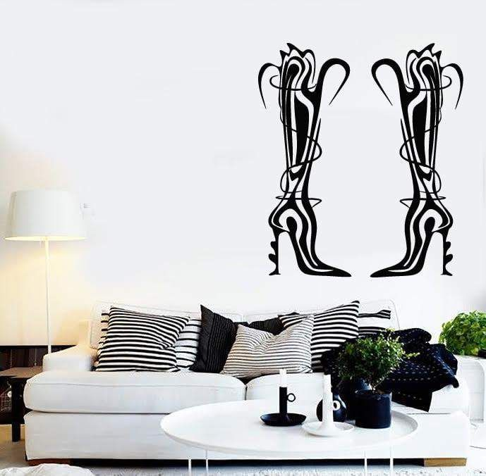 Wall Stickers Vinyl Decal Shoes for Girls Shopping Fashion Stylish ig1881