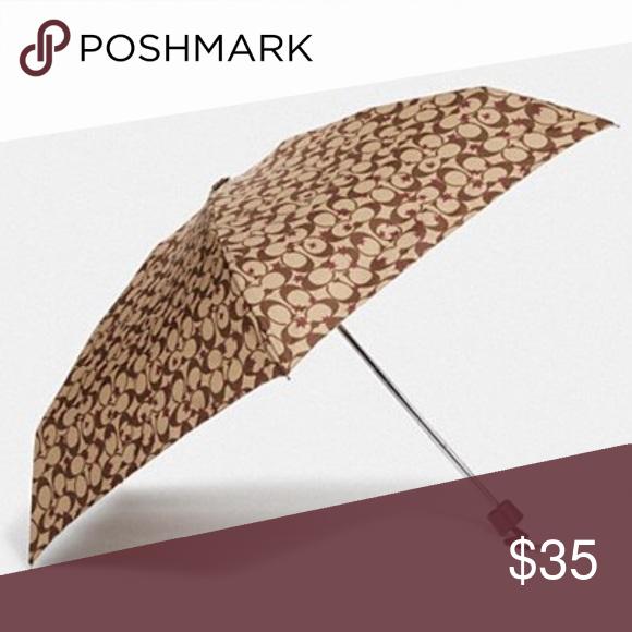 , Mini Umbrella with Pop Star Print Style F41063. Printed Nylon. Attached wrist strap. Color is Khaki/Multi/Silver. Coach Accessories Umbrellas, My Pop Star Kda Blog, My Pop Star Kda Blog
