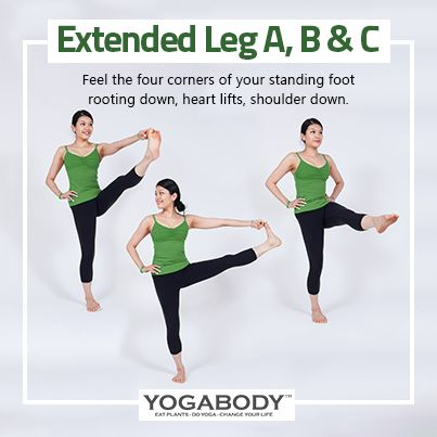extended leg a b c  feel the four corners of your