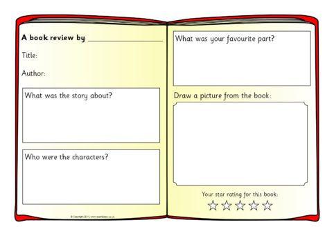 Book Review Writing Frame Templates (SB4295) - SparkleBox - book report sample