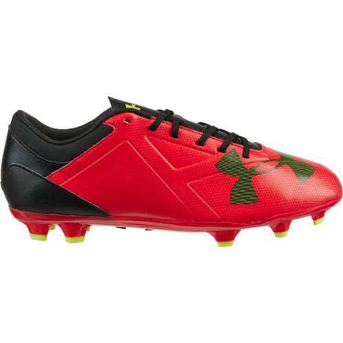 82b023417b96 Under Armour Men's Spotlight DL FG Soccer Cleats (Rocket Red/Black/Hi Vis  Yellow, Size 7.5) - Adult Soccer Shoes at Academy Sports