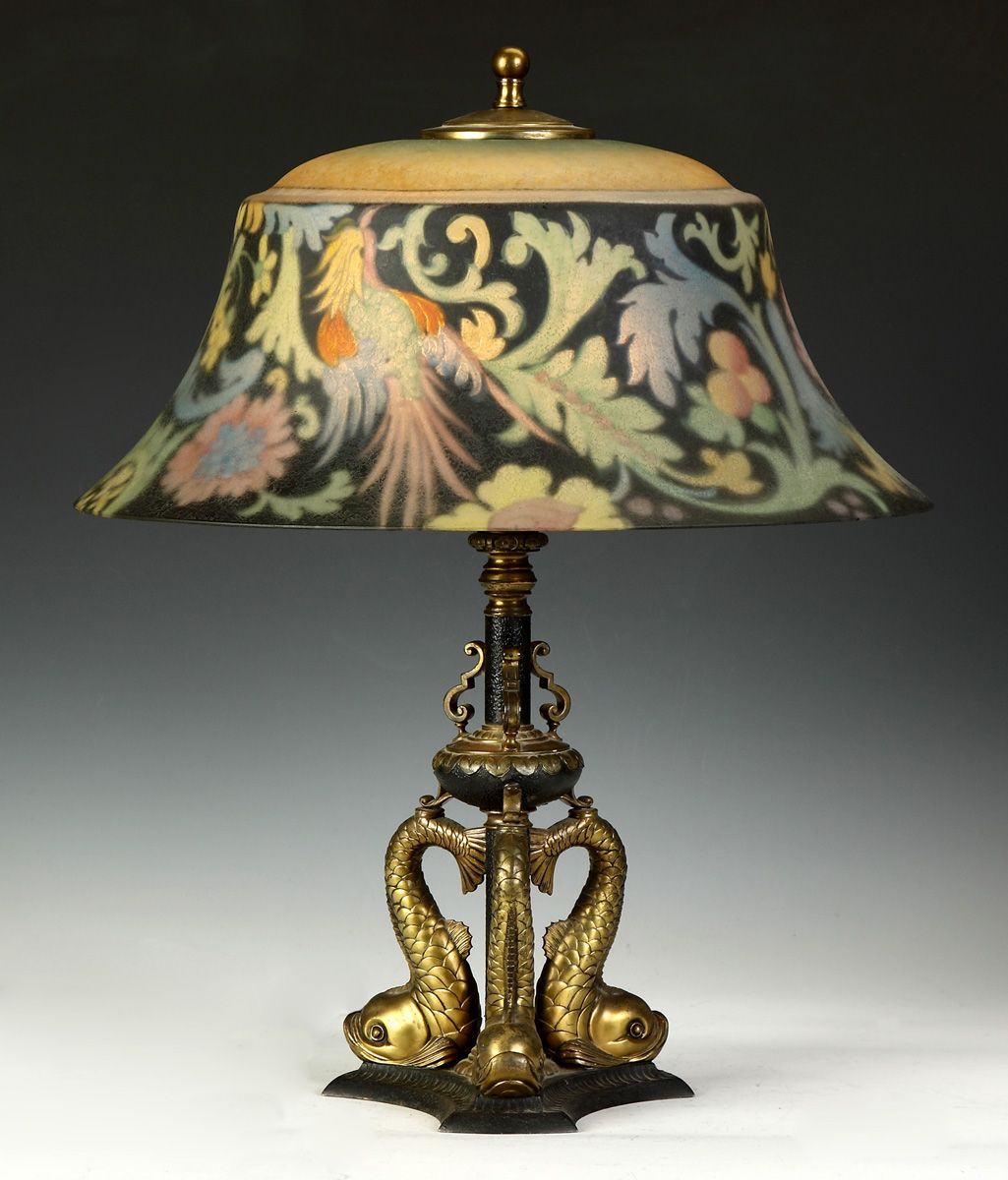 Pairpoint Lamps 497 Pairpoint Bird Of Paradise Reverse