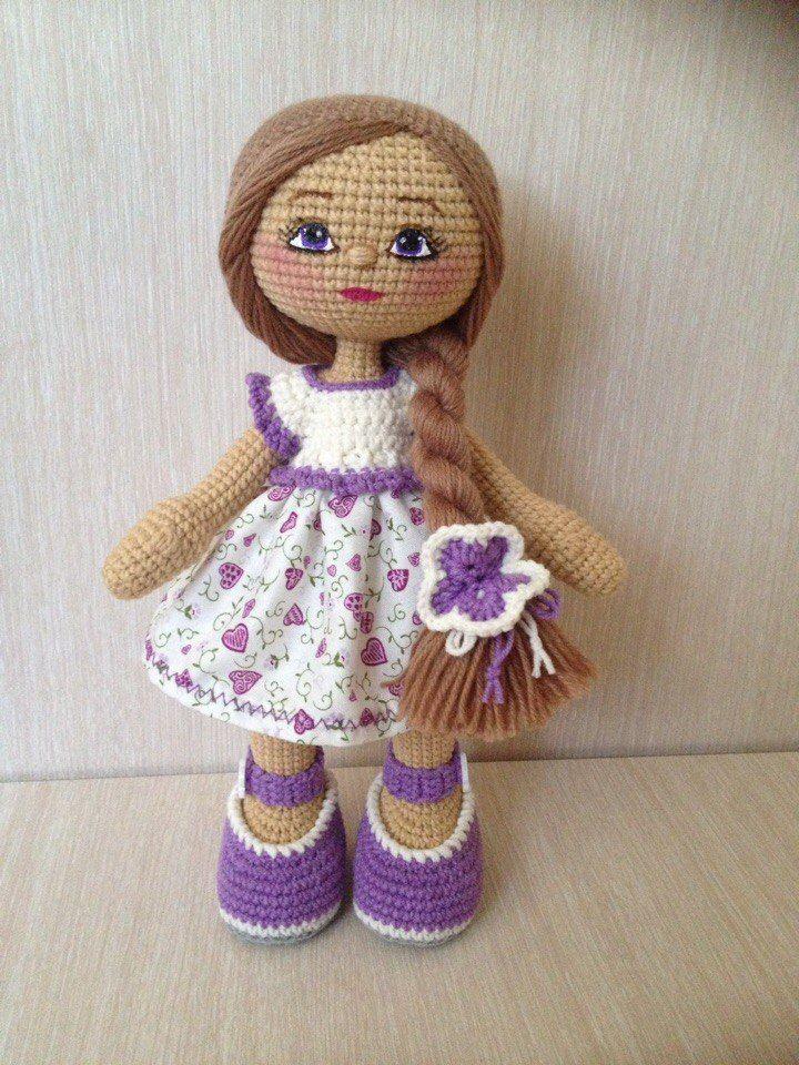 Pin de Ana en Tejido | Pinterest | Muñecas, Muñecas de crochet y ...