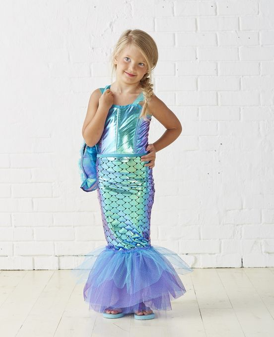 Kids Mermaid Costume | DIY kids Halloween Costume ...