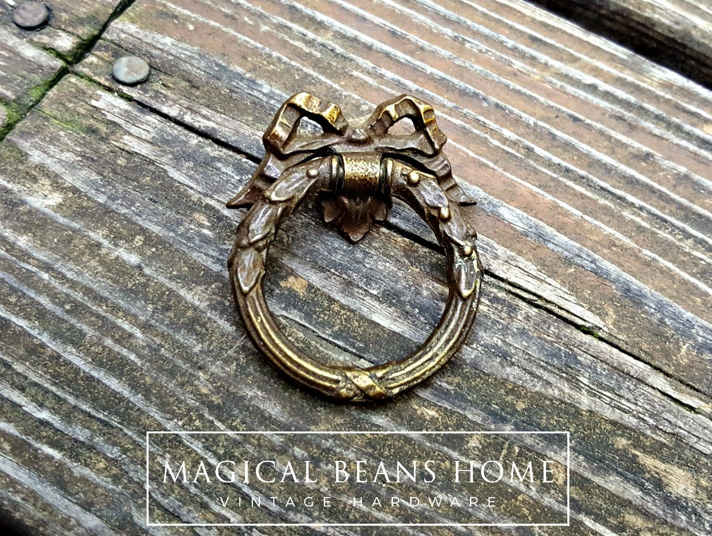 Ribbon U0026 Bow Ring Pulls Victorian Furniture Pulls Romantic Gift KBC Dresser  Pulls Dark Brass Chocolate Drawer Pulls Dresser Hardware O Ring