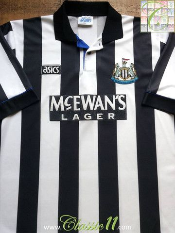 Relive Newcastle United s 1994 1995 season with this vintage Asics home  football shirt. f2470d138