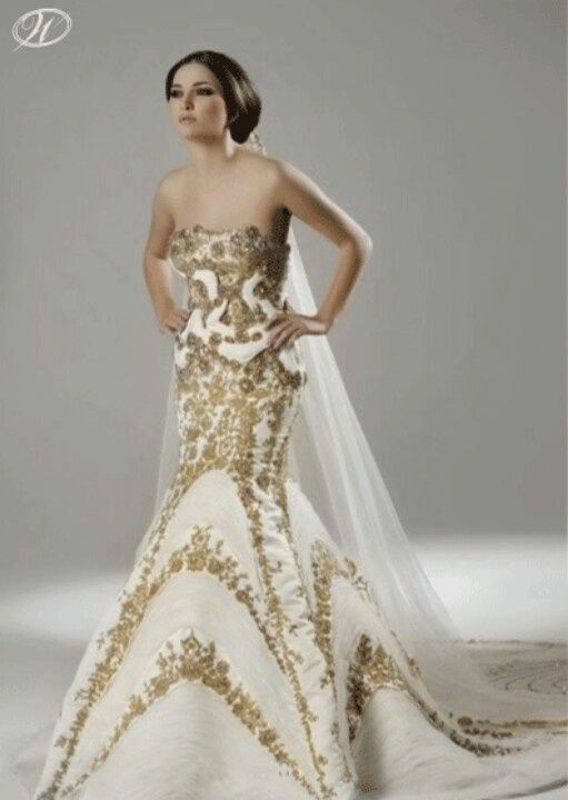 Alexander mcqueen zoty pinterest gold wedding gowns gold white and gold wedding gown junglespirit Choice Image