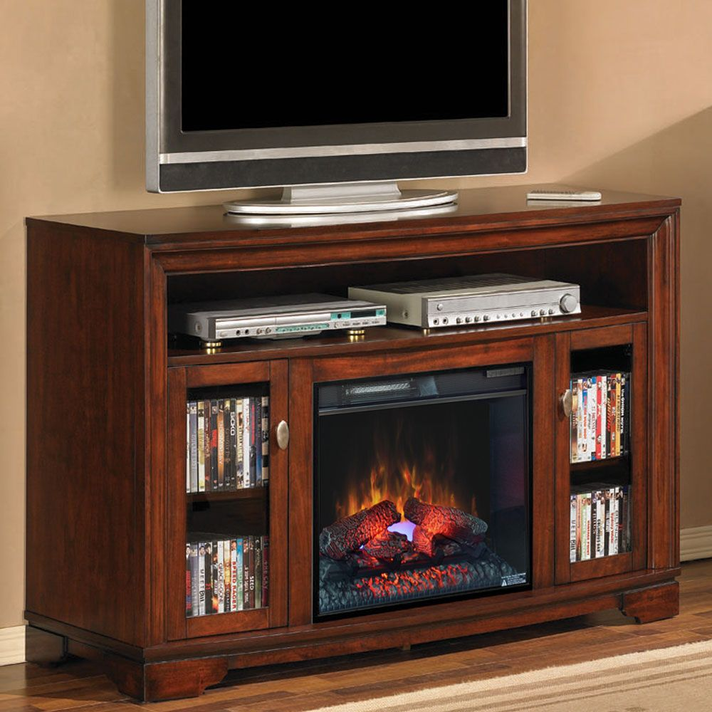 Palisades 23 Empire Cherry Media Console Electric Fireplace