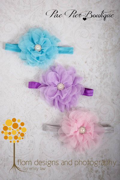 Baby Girl Headband - 3 PACK - Baby Headband - Newborn Headband - Infant Headband - Toddler Headband - Flower Headband  - Baby Shower Gift
