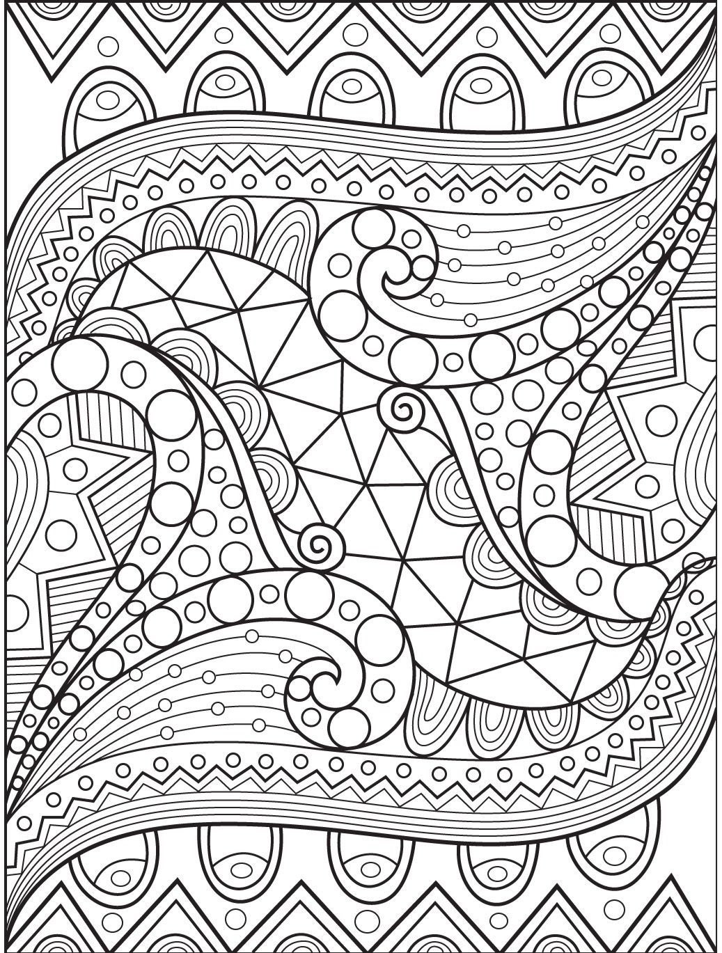 7 Coloring Pages For Adults Pdf Abstract Downloadable In 2020