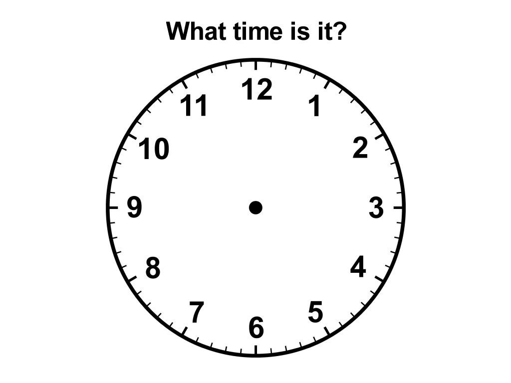 Large Printable Clock Faces