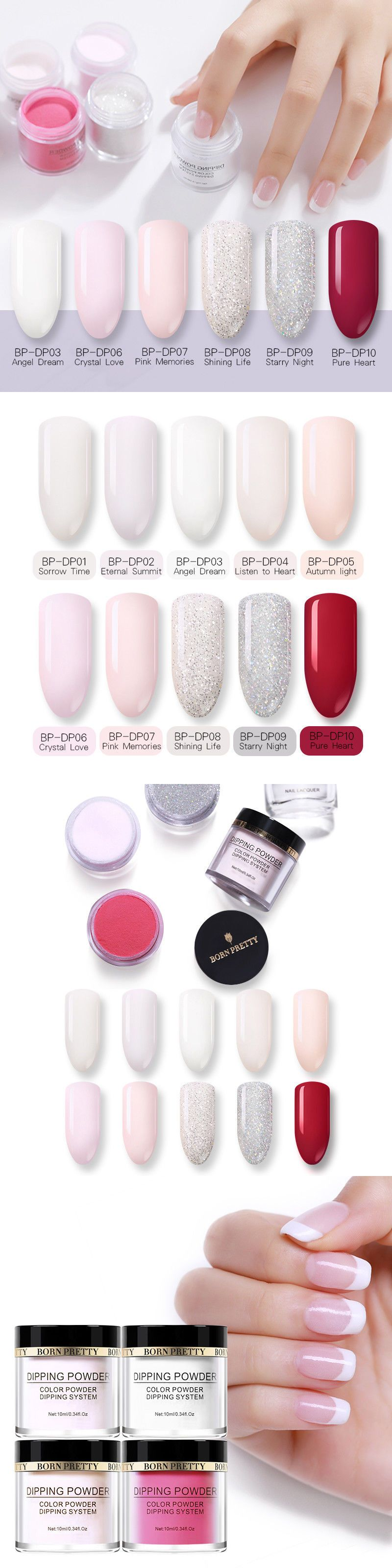 Acrylic Powders And Liquids 182105 Born Pretty Nail Dipping Powder Color Starter Kit No Smell Uv It Now Only 12 49 On Ebay