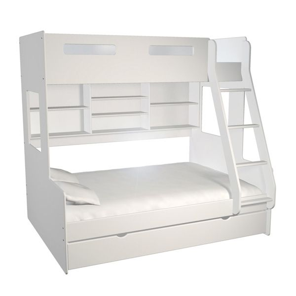 The Addmor Bunk Bed 4 Has A Double Base Bed And A Single Bed On Top Bunk Beds Bed Kids Bedroom Furniture