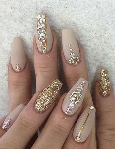 Glitter Nail Art Uñas Pinte