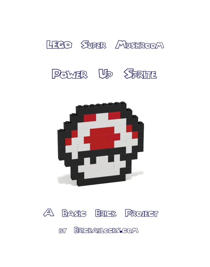 Super Mario Bros Red Mushroom Sprite Pdf Build Instructions Lego