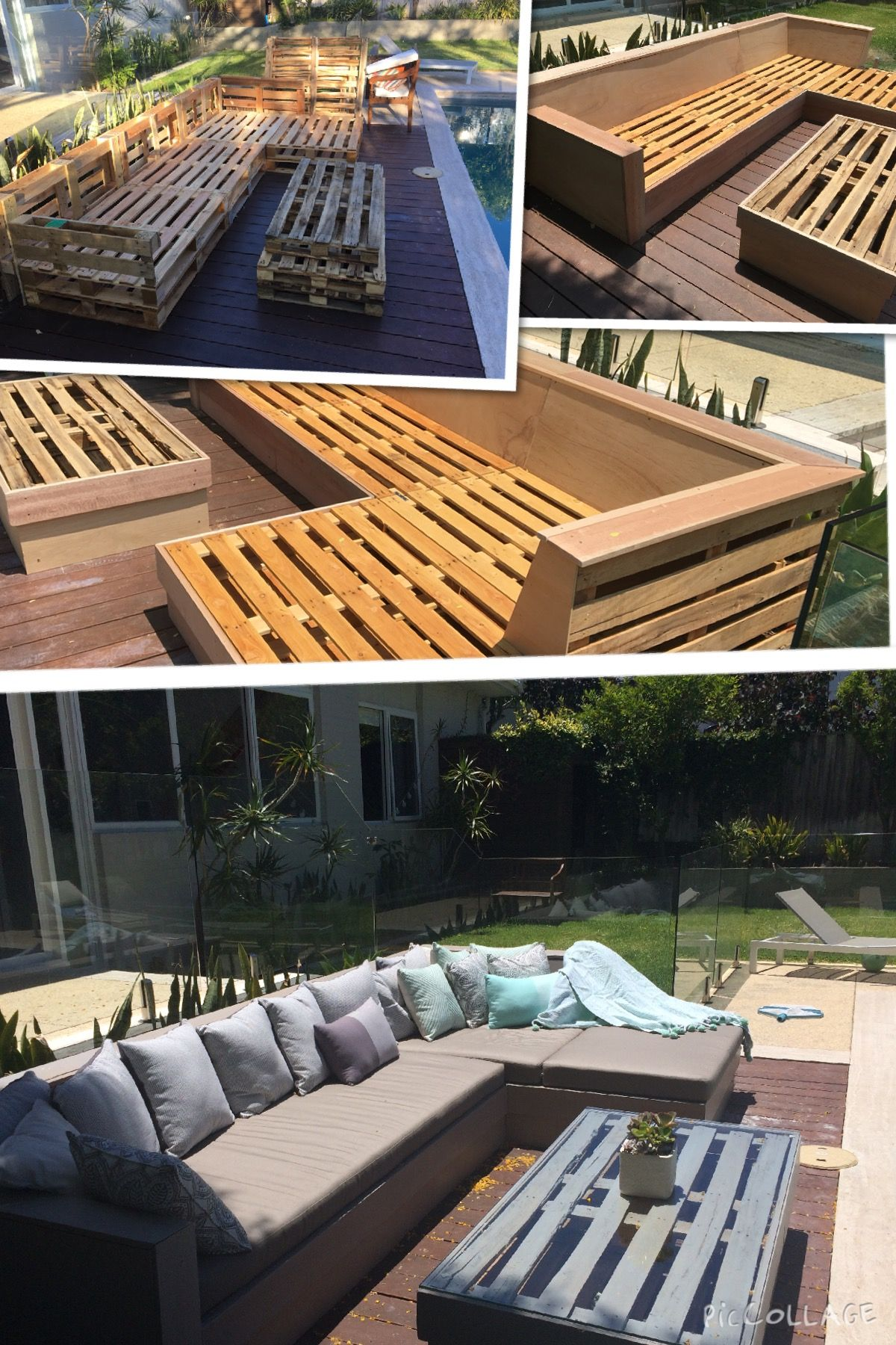Pallet Daybed & Coffee Table Patio In 2018