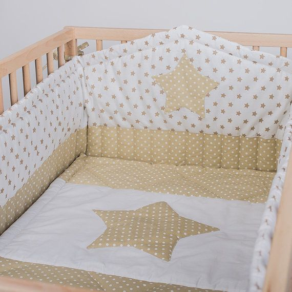 Crib Per And Bed Cover Beige Stars Baby Cot By Cotandcot Pers Star Nursery