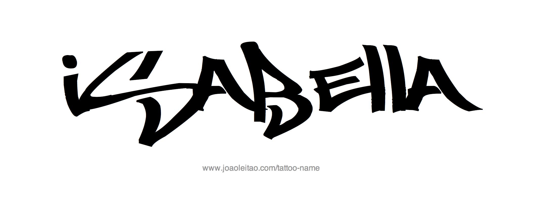 Isabella Name Tattoo Designs Ximena Tatuajes Tipografía Y Tatoo