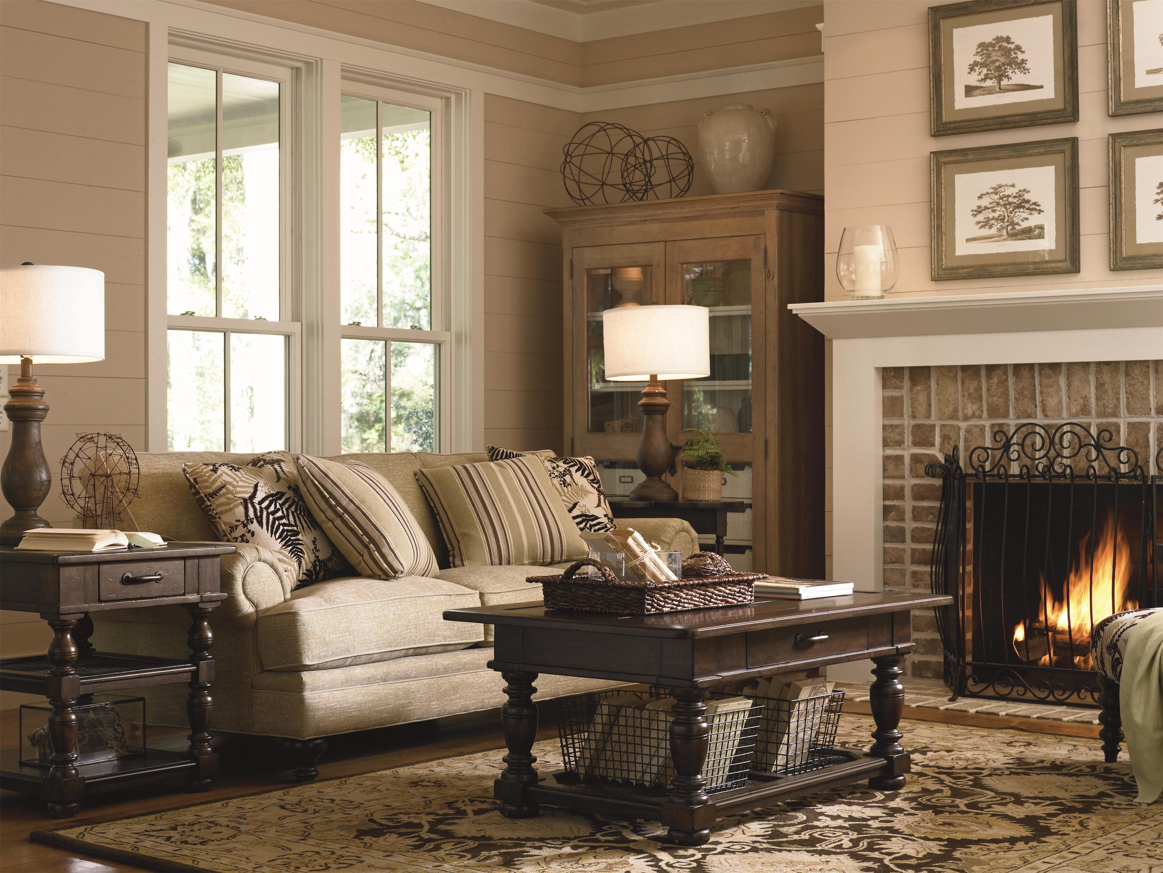 Universal Furniture Paula Deen Down Home Occasional Living Room Coffee Table Set In Moles 193