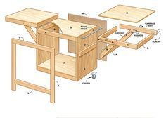 Photo of Convertible Miter Saw Station Plans #Miter #Plans #Convertible
