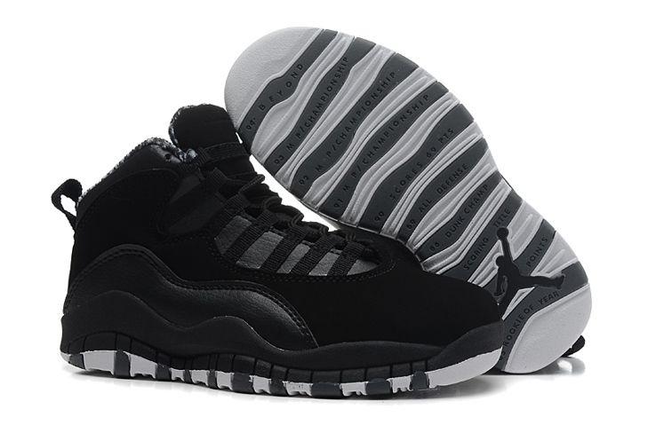 many styles arriving order Pas Cher Nike Air Jordan 10 Kids Noir 2014 Chaussures Enfants En ...