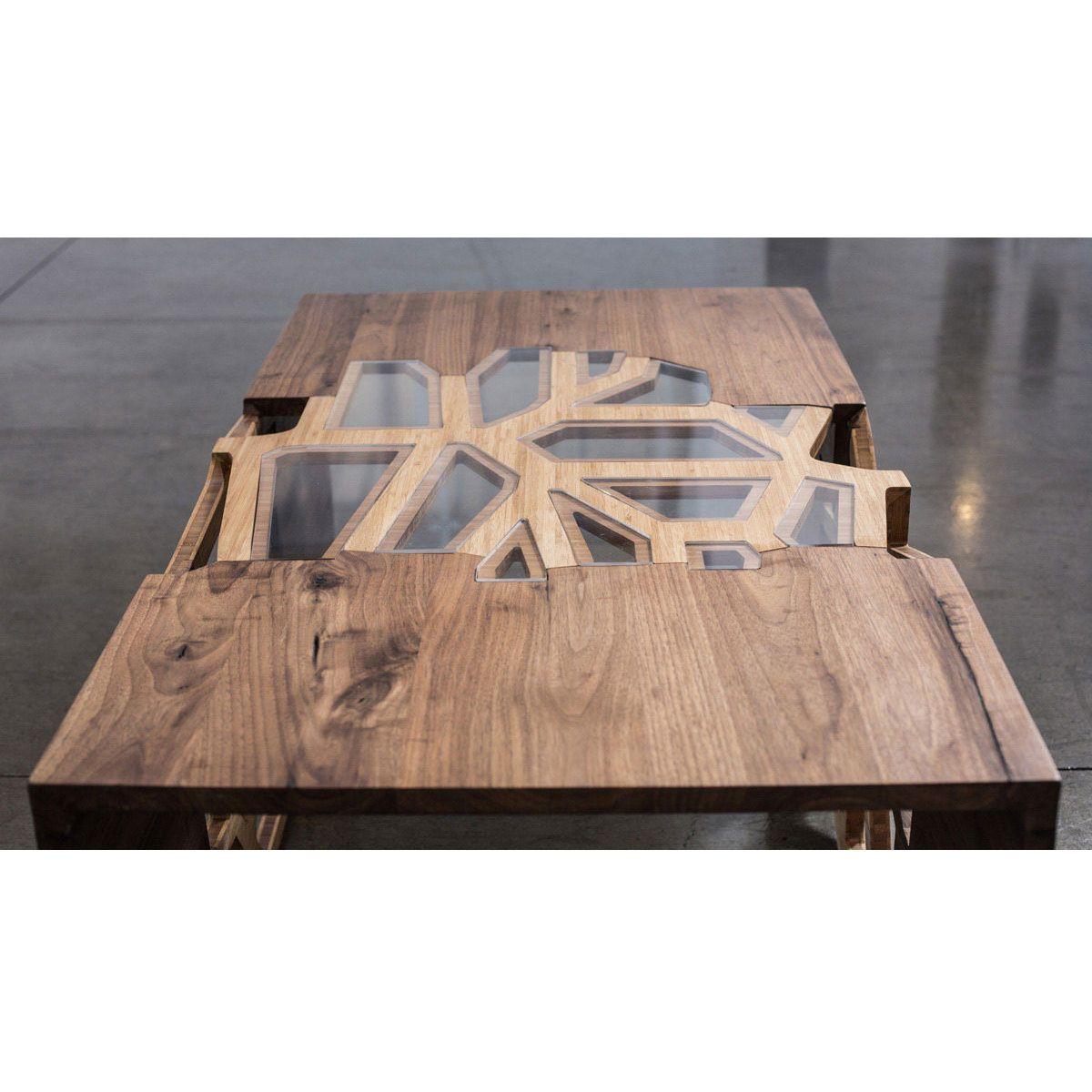 Handmade Organic Wood Mosaic Coffee Table Dotandbo Com Mosaic Coffee Table Furniture Wood Mosaic
