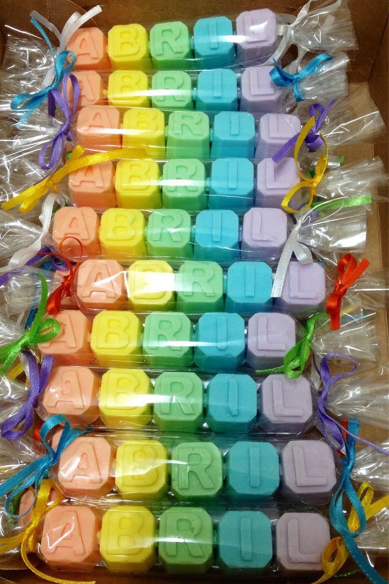 Jabón Letras Nombres Souvenirs Nacimientos Baby Showers 55 00 Jabones Envases De Jabón Jabones Decorativos