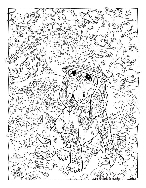 Creative Haven Dazzling Dogs Coloring