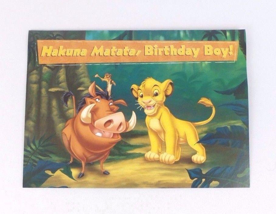 Disneys The Lion King Hakuna Matata Birthday Boy Greeting Card W