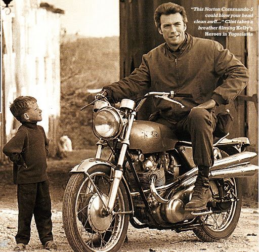 Clint Eastwood was well known for his love of cars and motorcycles in the 1960s and 1970s, Clint Eastwood especially loved the British marques Jaguar, Austin Healey and motorcycle marque Norton. I …