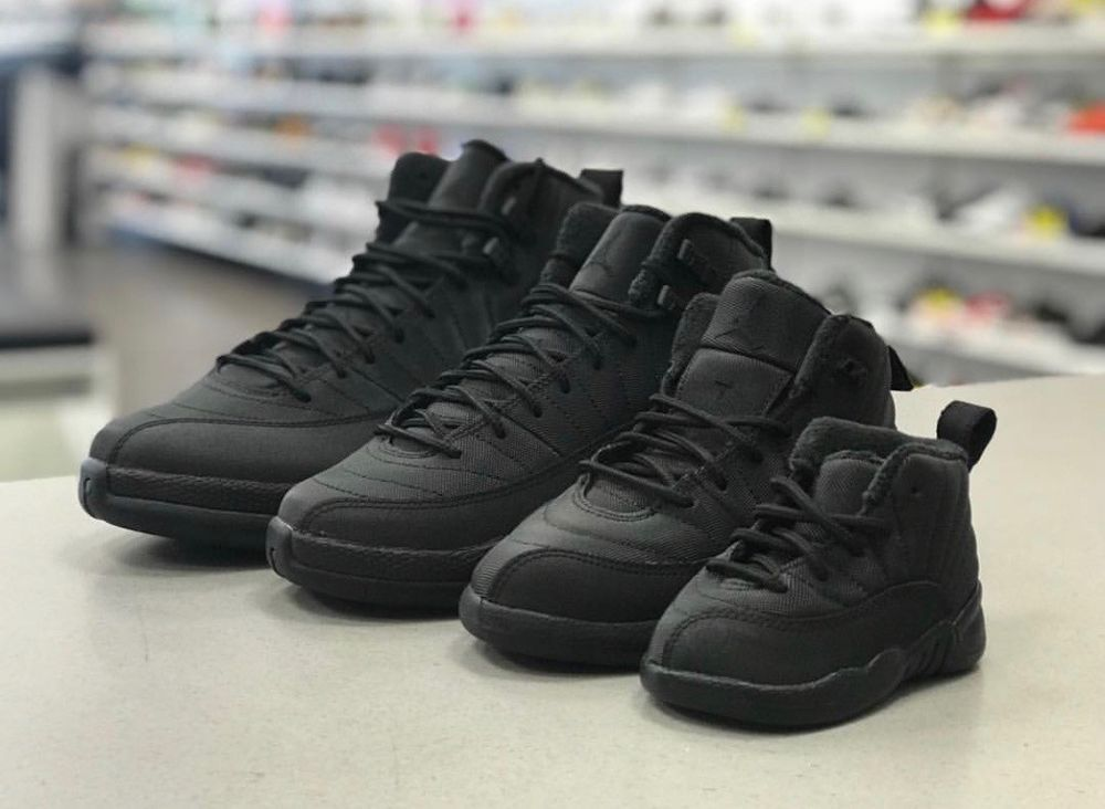 5ab8ffe45d38 Jordan 12 Retro Winterized Black Anthracite Toddler Preschool GradeSchool  4C-7Y