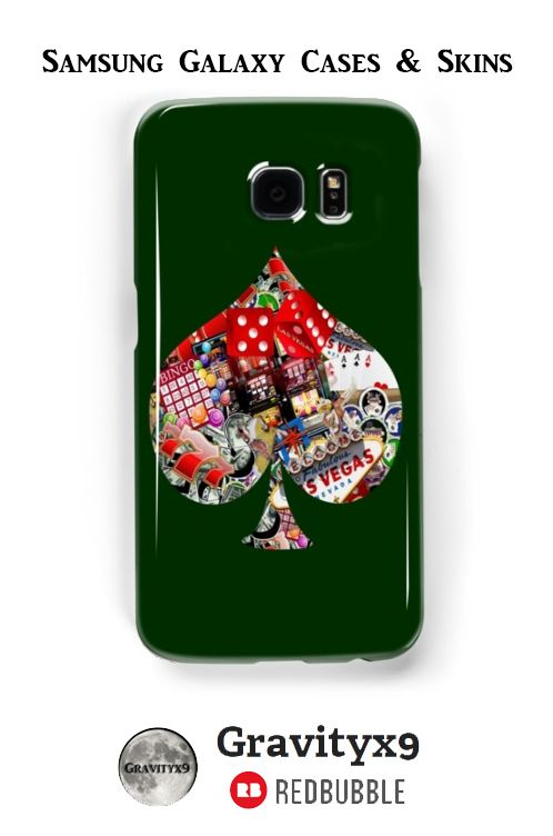 Spade Playing Card Shape - Las Vegas Icons Samsung Galaxy Cases & Skins - This #LasVegasIcons design is also available on fashion, prints, home decor and more at #Redbubble -