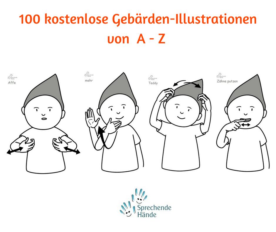 kostenlose Gebärden Illustrationen Kindergebärden Babyzeichen ...