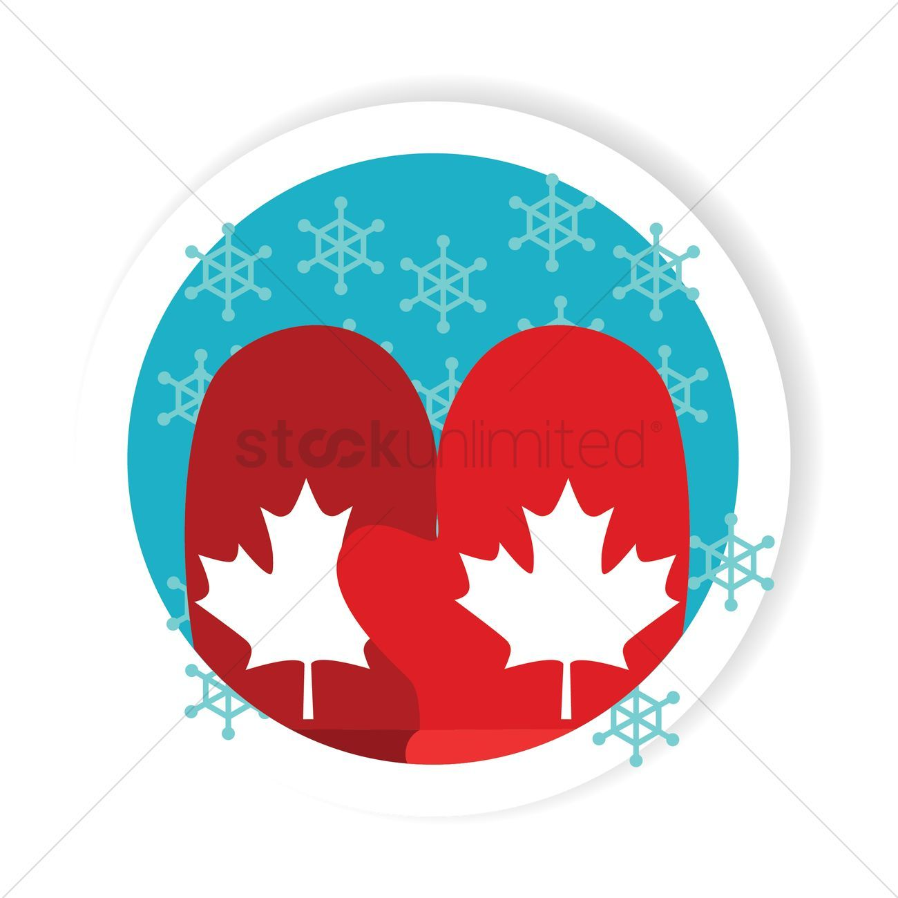 Pair Of Knitted Christmas Mittens Isolated On White Background. Winter  Gloves Icon In Flat Style. Stock Vector - Illustration of snow, flat:  133029520