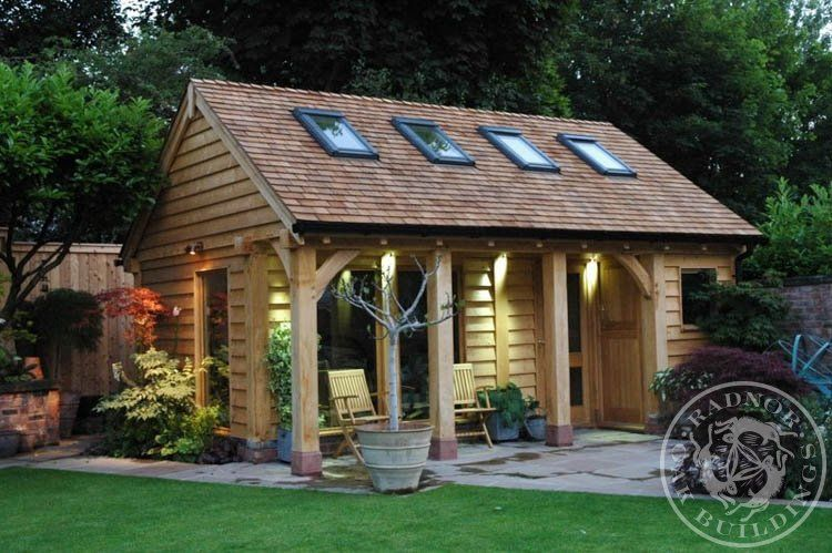 radnor oak home office framed annex garden room building summer house in the o