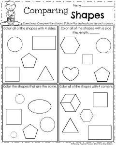 Spring Kindergarten Worksheets | Everything | Shapes worksheet ...