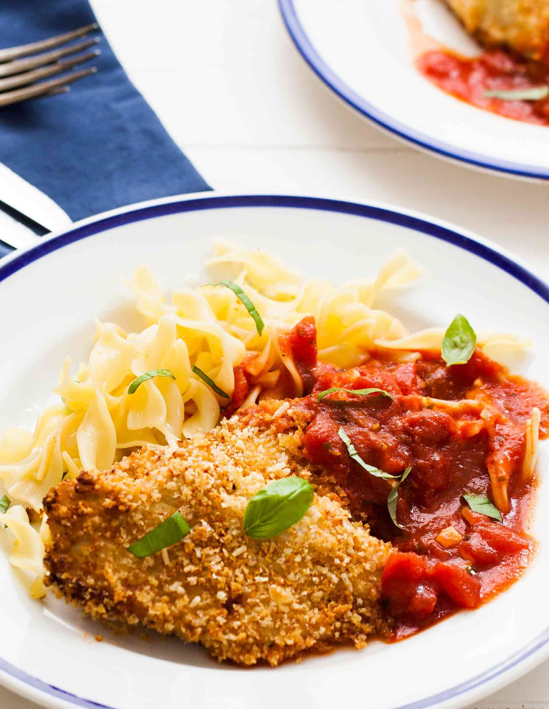 Baked Chicken Parmesan Easy And Quick Chicken Cutlets Breaded With