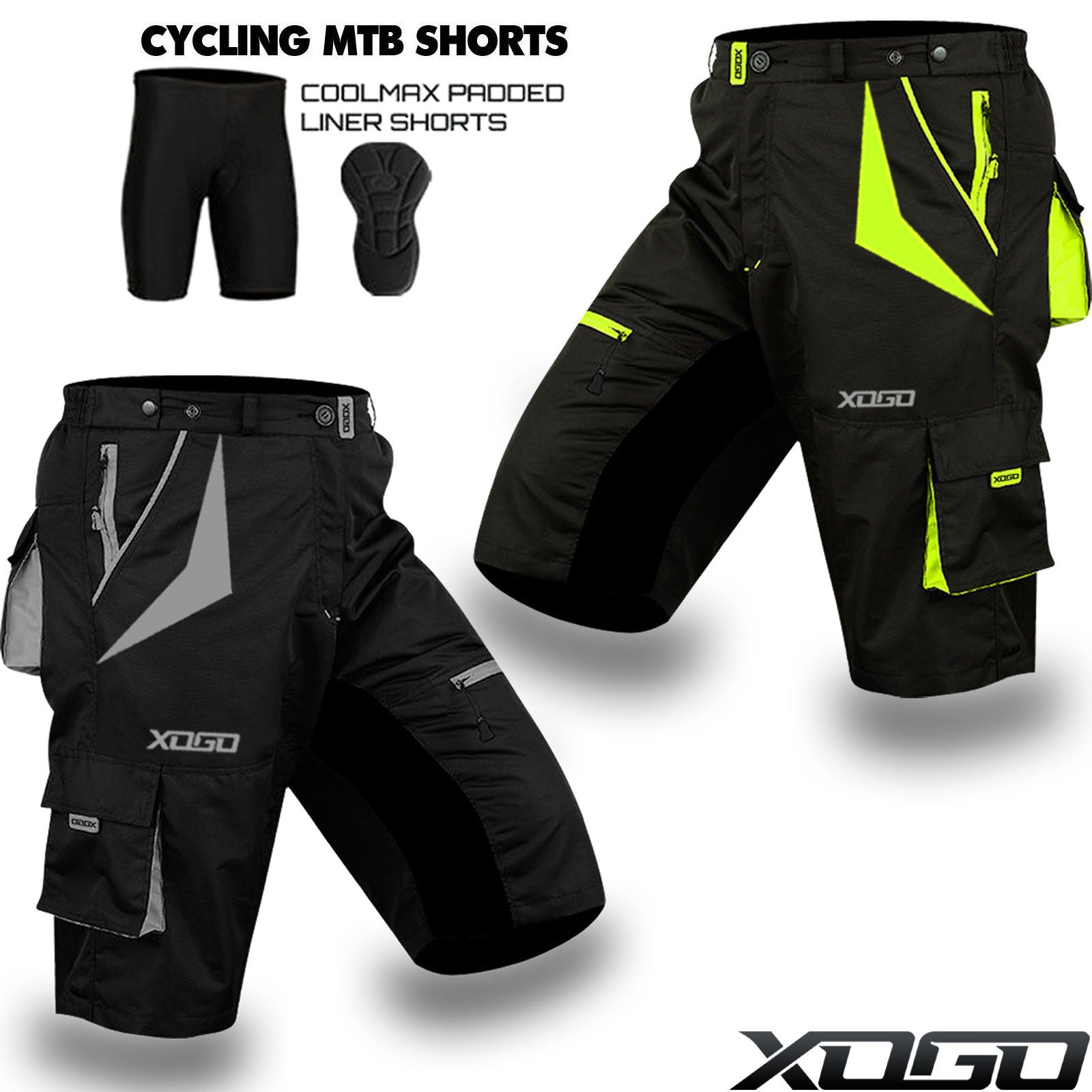 d25b229e8 Mtb Cycling Short Off Road Bicycle With Coolmax Padded Liner Shorts Sports